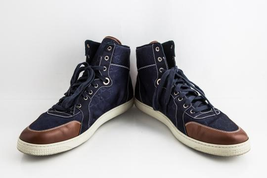 Gucci Blue Nylon Navy Coda High Top Sneakers Shoes Image 5