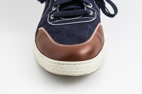 Gucci Blue Nylon Navy Coda High Top Sneakers Shoes Image 7