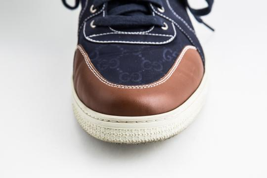 Gucci Blue Nylon Navy Coda High Top Sneakers Shoes Image 8