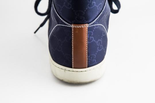 Gucci Blue Nylon Navy Coda High Top Sneakers Shoes Image 9