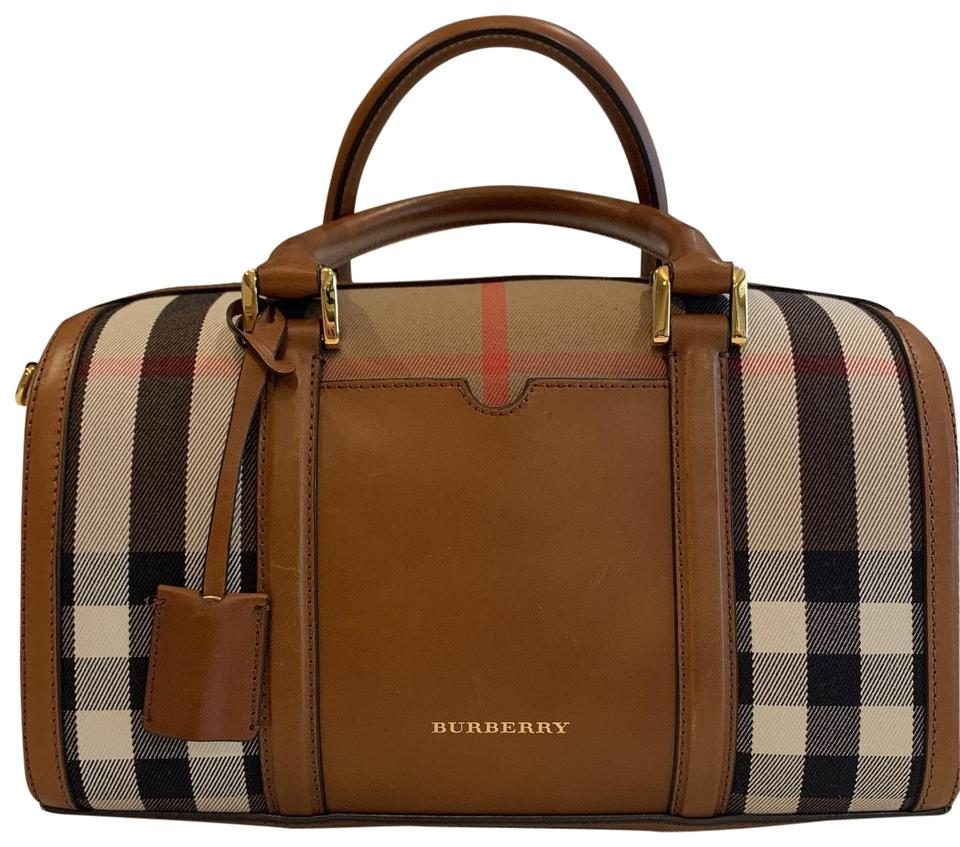 f36c91046e61 Burberry Alchester Bowling Brown Pattern Grained Leather   House ...