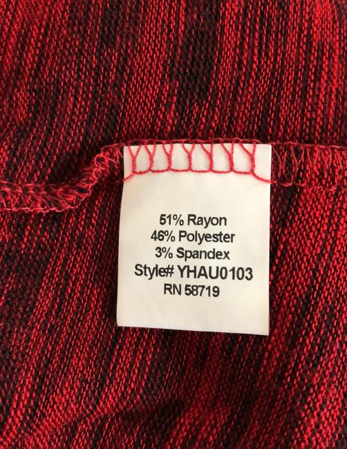 NY Collection Knit Petite Marbled Top multi red Image 5