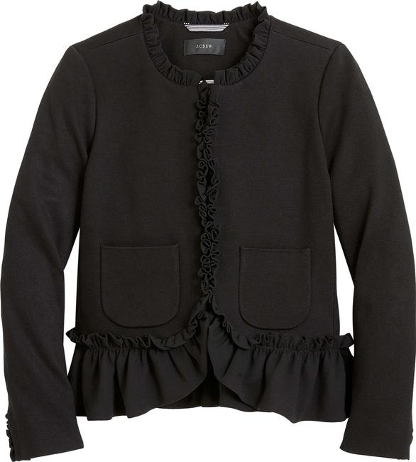 Preload https://img-static.tradesy.com/item/25271264/jcrew-black-the-going-out-with-ruffles-blazer-size-0-xs-0-1-650-650.jpg