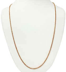 Micheal Anthony 14k Rose Gold Hollow Michael Anthony Diamond Cut Chain Necklace 26