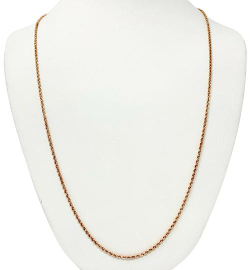 Preload https://img-static.tradesy.com/item/25271268/14k-rose-gold-hollow-diamond-cut-chain-26-necklace-0-1-540-540.jpg