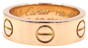 Cartier 18K gold Love wide band ring size 48 5.5mm wide