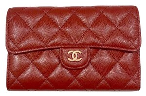 Chanel New Unicorn Red Iridescent Caviar Flap Series 25