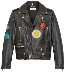 Saint Laurent Women's Leather Motorcycle Jacket