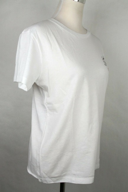 Saint Laurent Women's Fitted Crew Neck T Shirt Ivory Image 2