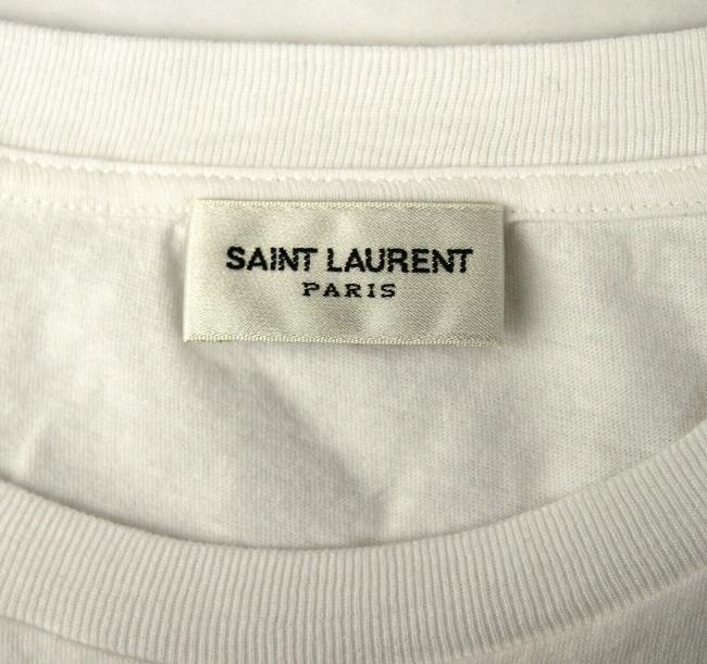 Saint Laurent Women's Fitted Crew Neck T Shirt Ivory Image 6