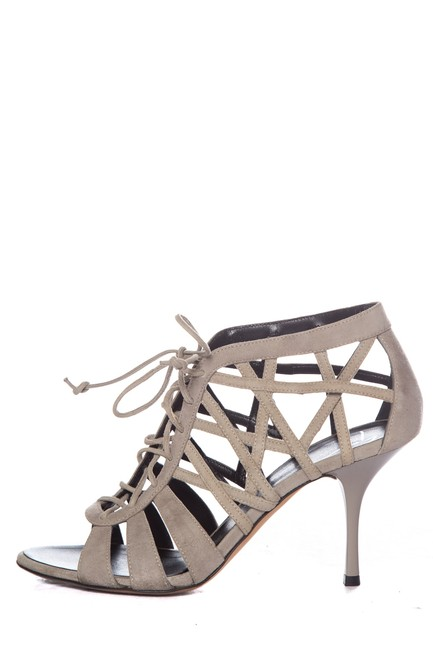 Item - Grey Suede Caged Sandals Size EU 37 (Approx. US 7) Regular (M, B)