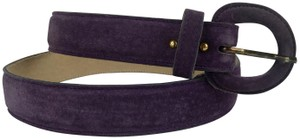 Jaeger JAEGER PURPLE SUEDE LEATHER BELT, SIZE SMALL