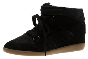 Isabel Marant Suede Wedge Black Flats