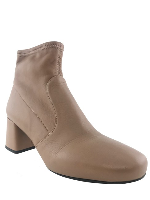 Item - Nude Leather Zip Ankle Boots/Booties Size EU 37 (Approx. US 7) Regular (M, B)