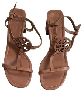 Tory Burch Block Heel Summer Spring nude rose Sandals