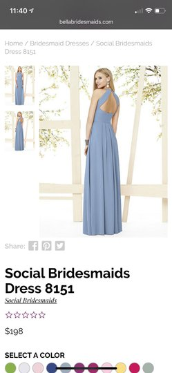 Social Bridesmaids Larkspur Matte Chiffon Style 8151 Formal Bridesmaid/Mob Dress Size 6 (S) Image 2
