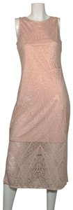 Carmen Marc Valvo short dress Pink Rayon on Tradesy