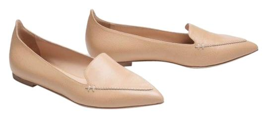 M.Gemi Leather Pointed Toe Tan Flats Image 0