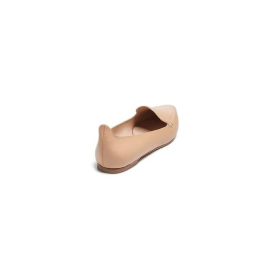 M.Gemi Leather Pointed Toe Tan Flats Image 3