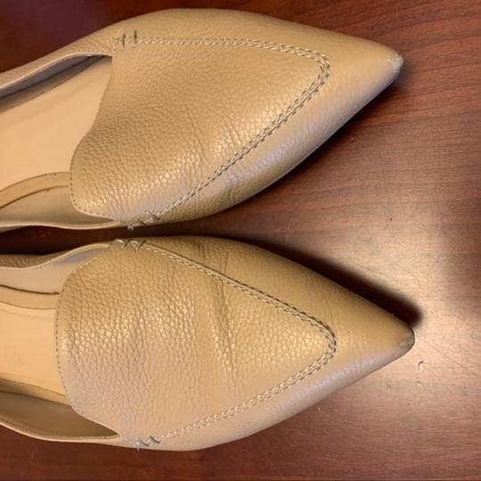 M.Gemi Leather Pointed Toe Tan Flats Image 5