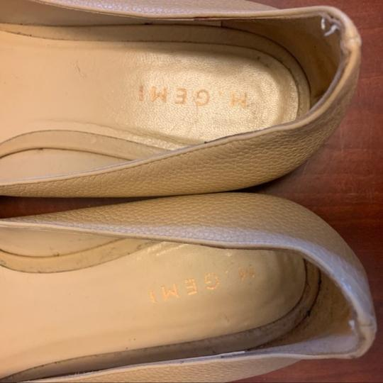 M.Gemi Leather Pointed Toe Tan Flats Image 7
