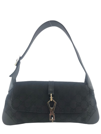 Preload https://img-static.tradesy.com/item/25272058/gucci-jackie-lobster-clasp-black-canvas-shoulder-bag-0-0-540-540.jpg