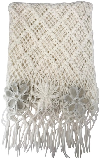 Preload https://img-static.tradesy.com/item/25272059/white-gray-loose-weave-crochet-wool-knit-shawl-fringe-flowers-60-scarfwrap-0-1-540-540.jpg