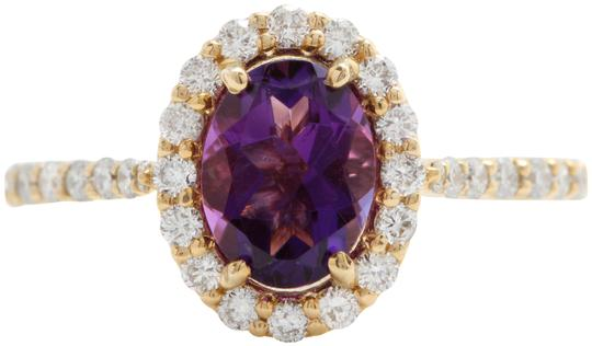 Preload https://img-static.tradesy.com/item/25272103/14k-yellow-gold-191ctw-natural-amethyst-and-diamonds-in-solid-ring-0-1-540-540.jpg