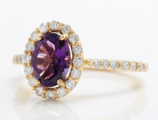 Other 1.91CTW Natural Amethyst & Diamonds in 14K Solid Yellow Gold Ring Image 1
