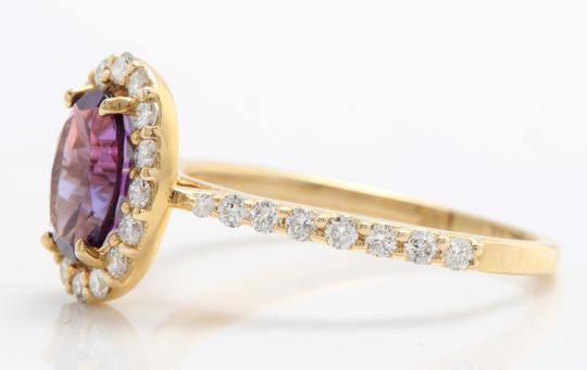 Other 1.91CTW Natural Amethyst & Diamonds in 14K Solid Yellow Gold Ring Image 4