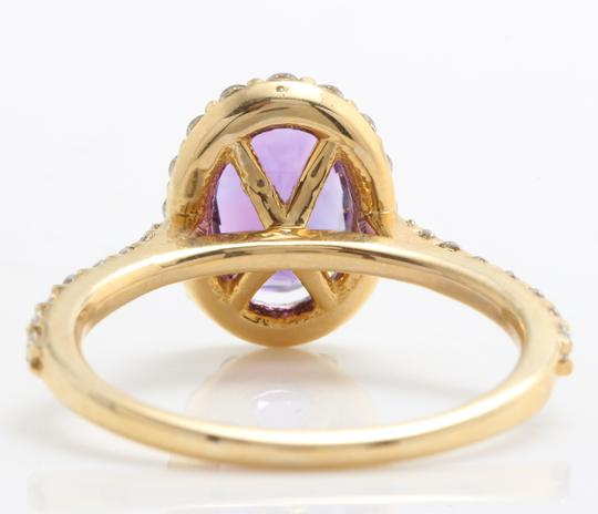 Other 1.91CTW Natural Amethyst & Diamonds in 14K Solid Yellow Gold Ring Image 5