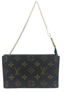 Louis Vuitton Pochette Metis Pouch Travel Wristle Makeup Chain Phone Neverfull Wallet Zippy Change Purse brown/tan/gold Clutch