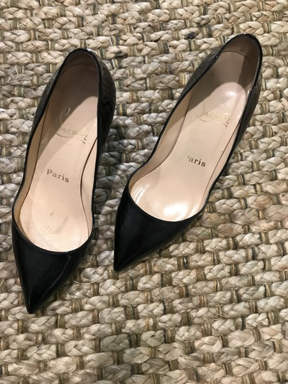 Christian Louboutin Black on red soles Pumps Image 1