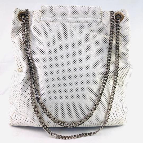 Chanel Vintage Perforated Tote in WHITE Image 1