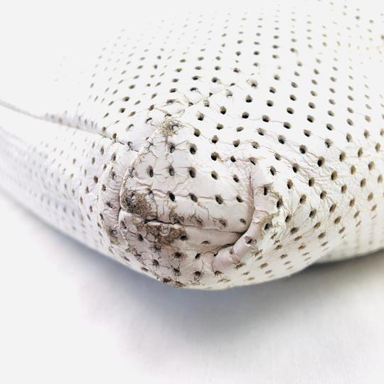Chanel Vintage Perforated Tote in WHITE Image 5