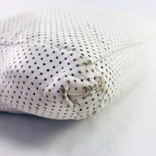 Chanel Vintage Perforated Tote in WHITE Image 6