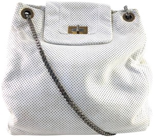 Chanel Vintage Perforated Tote in WHITE