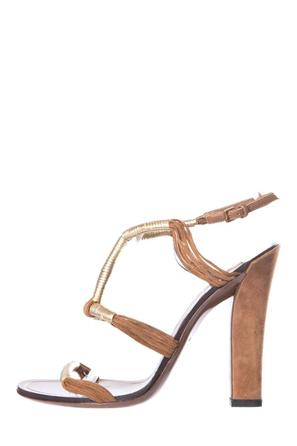 Gucci Brown Tan Suede Sandals Size EU 36.5 (Approx. US 6.5) Regular (M, B) Gucci Brown Tan Suede Sandals Size EU 36.5 (Approx. US 6.5) Regular (M, B) Image 1