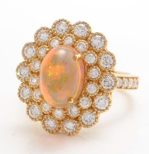 Other 3.05 CTW Natural Ethiopian Opal and Diamonds in 14K Solid Yellow Gold Image 1