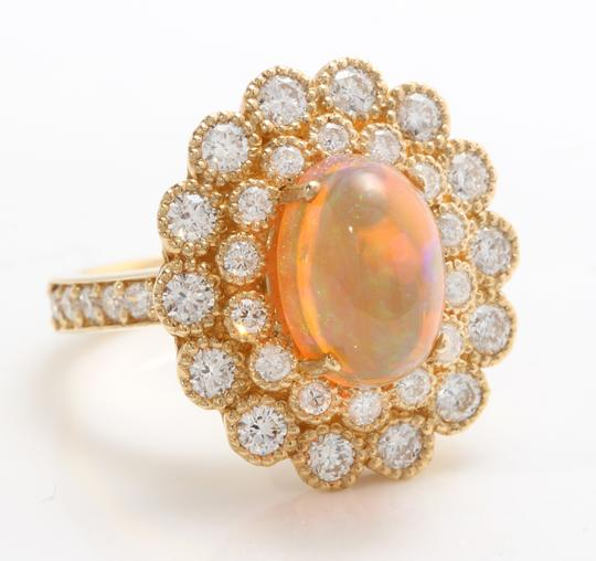 Other 3.05 CTW Natural Ethiopian Opal and Diamonds in 14K Solid Yellow Gold Image 2