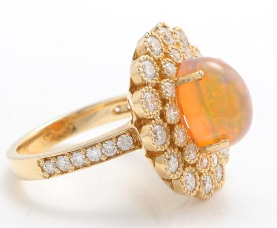 Other 3.05 CTW Natural Ethiopian Opal and Diamonds in 14K Solid Yellow Gold Image 5