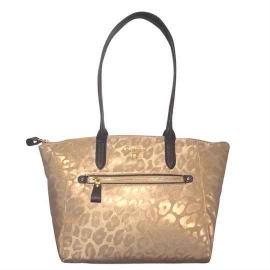 Michael Kors Travel Work School Business Beach Purse Water Resistant Pur Luggage Carryon Carr Neverfull Suitcase Tote in beige/tan/blacl/gold Image 3