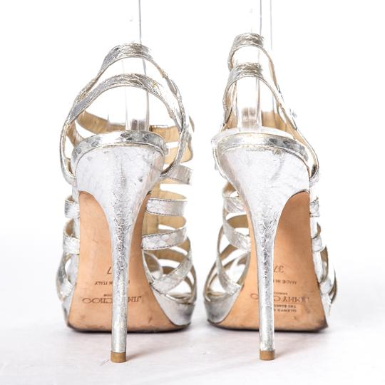Jimmy Choo Silver Sandals Image 5