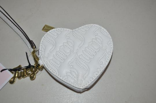 Juicy Couture Coin Purse Mini Wristlet in white gold Image 1