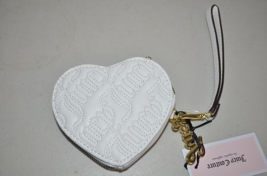 Juicy Couture Coin Purse Mini Wristlet in white gold Image 2