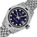 Rolex Ladies Datejust Ss/White Gold with Blue Vignette String Diamond Dial Image 0