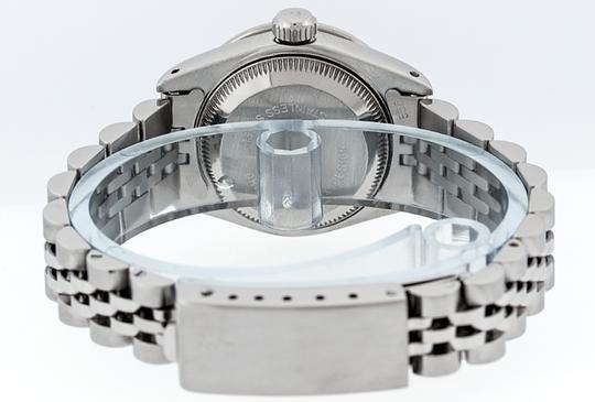 Rolex Ladies Datejust Ss/White Gold with Blue Vignette String Diamond Dial Image 1