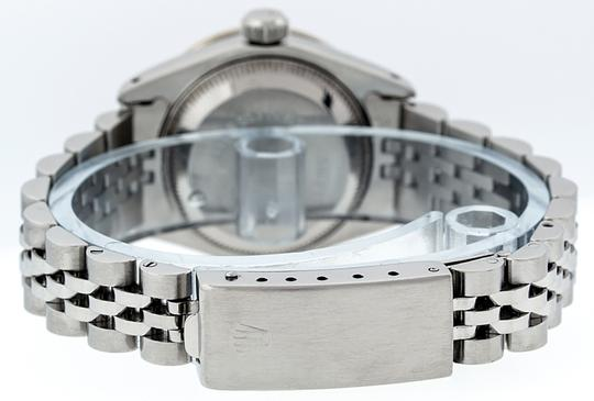 Rolex Ladies Datejust Ss/White Gold with Blue Vignette String Diamond Dial Image 2