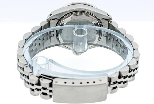 Rolex Ladies Datejust Ss/White Gold with Blue Vignette String Diamond Dial Image 4