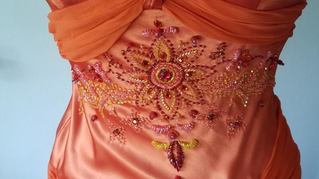 Dave & Johnny Prom Bridesmaid Beaded Gems Dress Image 3